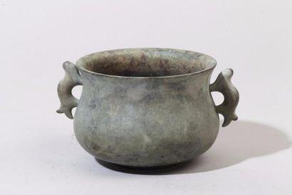 Chine, période Qing Petit brûle-parfum en...