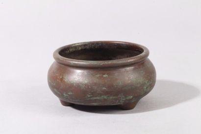 Chine, fin XIXe siècle Petit brûle-parfum...
