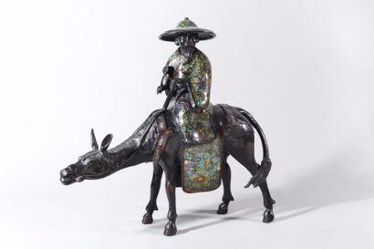 Japon, fin XIXe siècle Sujet en bronze et...