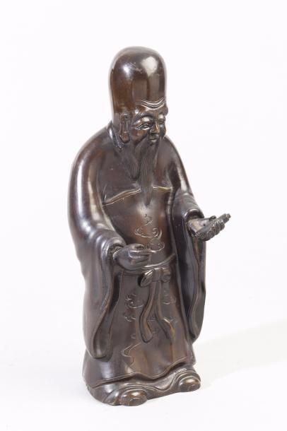 Chine, fin XIXe siècle Sujet en bronze de...