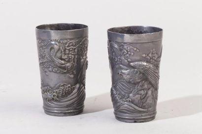 Chine du Sud, vers 1900 Paire de gobelets...