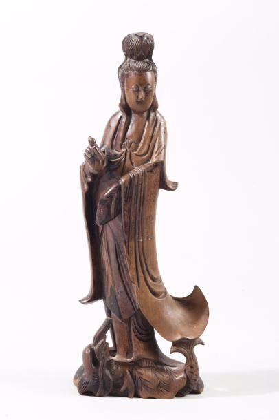 Chine, époque Kangxi (1662-1722) Statuette...