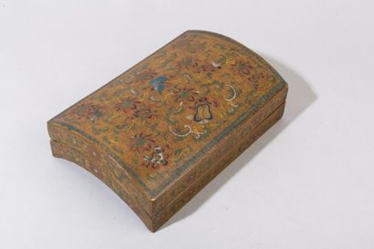 Chine, XXe siècle Boîte en bambou laquée...