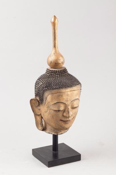 Birmanie, XIXe siècle Tête de bouddha en...