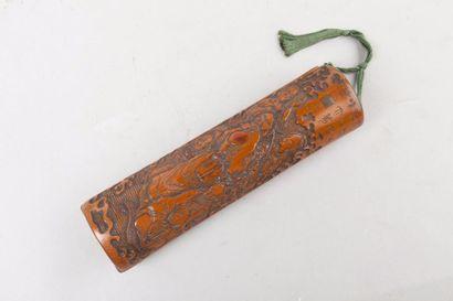Japon, XIXe siècle Etui ou sagemono en bambou...