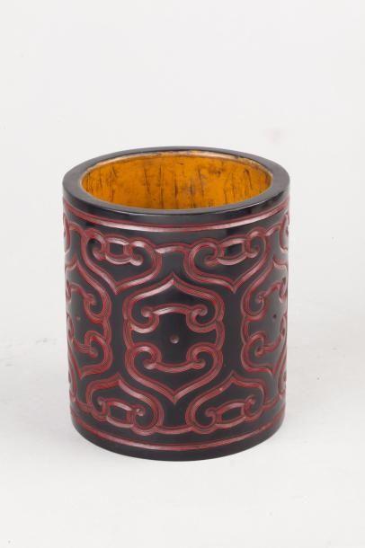 Chine, XXe siècle Porte-pinceaux Bitong en...