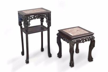 Chine, vers 1900 Lot comprenant deux petites...