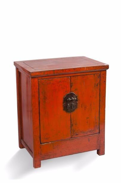 Chine, XIXe siècle Paire de cabinets en bois...