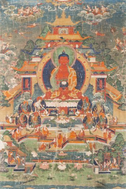 Tibet, fin XVIIIe - début XIXe siècle Thangka...