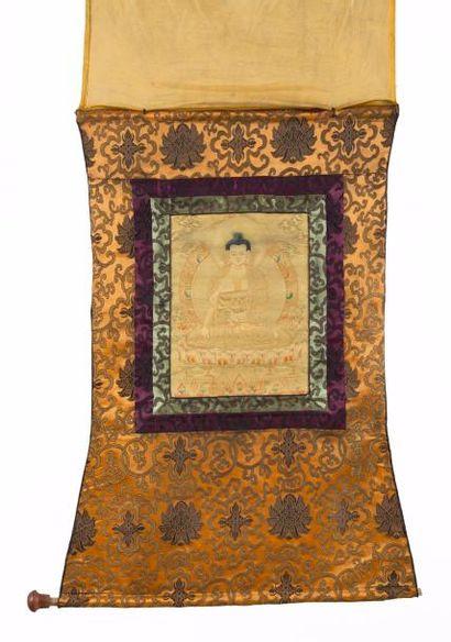 Chine, milieu du XXe siècle Thangka peint...