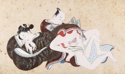 Japon, vers 1900 Deux peintures à l'encre...