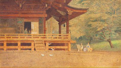T. Tamotsu, école japonaise, XXe siècle Promenade...