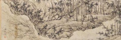 Chine, XIXe siècle Peinture à l'encre sur...