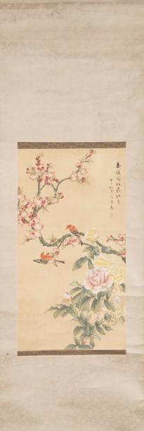 Chine, 1ère moitié du XXe siècle Peinture...
