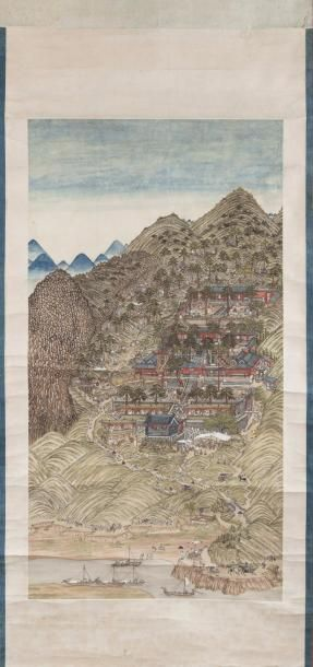 Chine, période Guangxu, vers 1880. Peinture...