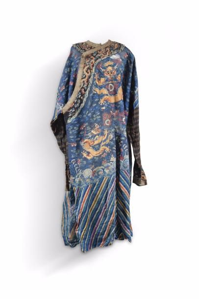 Chine, fin XIXe siècle Robe d'été, à décor...