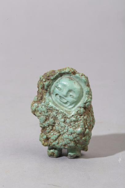 Chine, XXe siècle Petit sujet en turquoise,...
