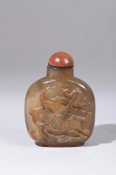 Chine, XIXe siècle Flacon de tabatière de...