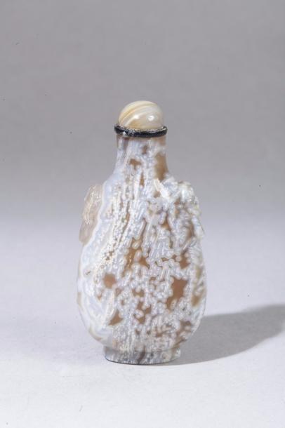 Chine, XIXe siècle Flacon de tabatière piriforme...