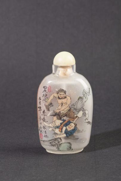 Chine, XXe siècle Flacon de tabatière en...