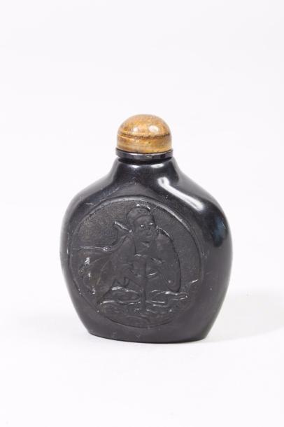 Chine, période Qing Flacon de tabatière en...