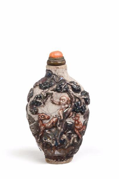 Chine, fin XIXe siècle Tabatière de forme...
