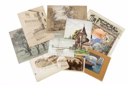 Fribourg, Neuchâtel, Zurich, divers paysages,...