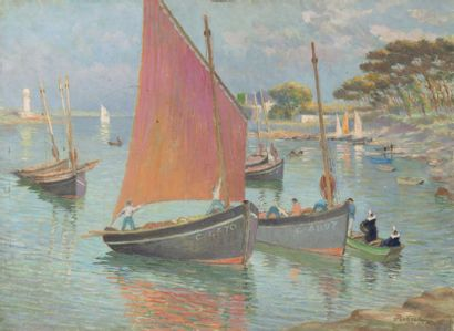 Bateau de pêche Sainte Marine, Bénodet Huile...
