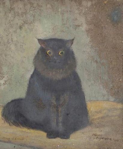 Le Chat, Minou à l'age de 6 mois Huile sur...