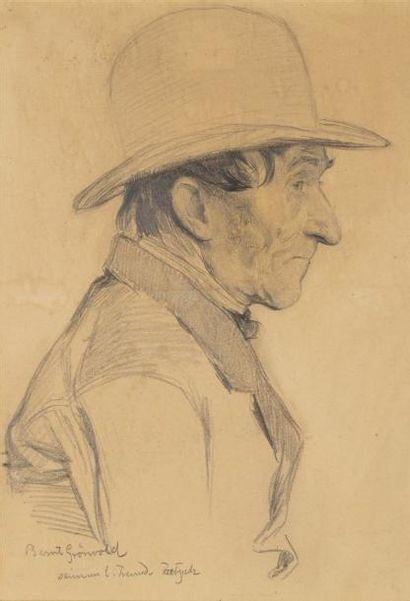 Portrait de Bernd Grunewald Crayon