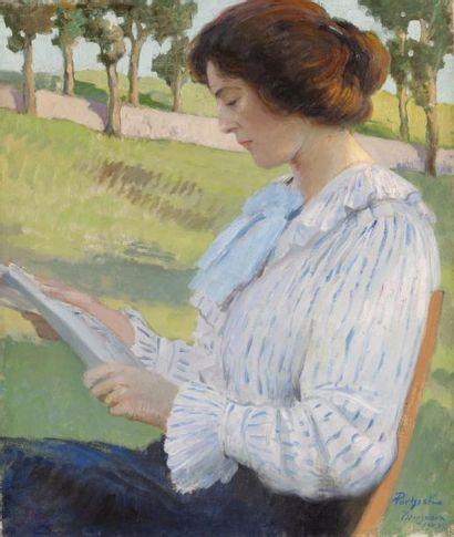 Marie Louise à la lecture, 1909 Huile sur...