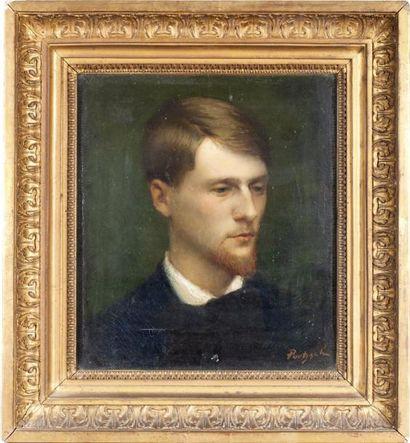 Portrait d'Aloïs Hugonnet, peintre de Morges...