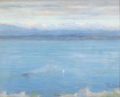 Voilier et vapeur sur le lac de Neuchâtel...