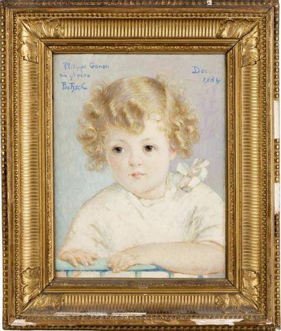 Portrait de Philippe Huile sur toile, signée...