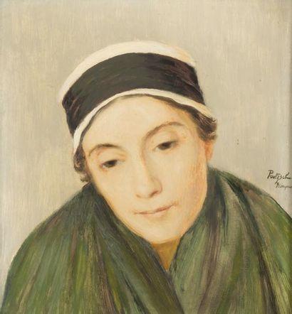 • Portrait de paysanne à Yssingeaux  Huile...