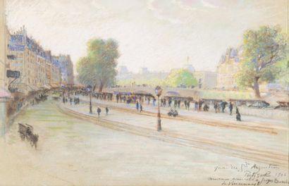 Quai des Grands Augustins, 1906 Pastel, signé,...