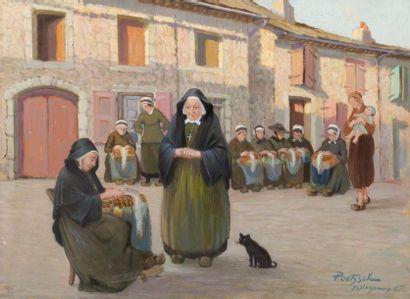 Les dentellières et jeune mère à Yssingeaux...