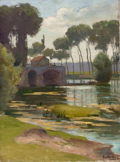 La Marne à Chelles, 1911 Huile sur toile,...