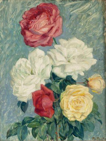 Bouquet de fleurs Ensemble de 11 œuvres comprenant...