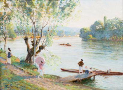 Canotage, le paradis des pêcheurs à Chatou...