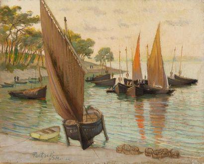 Bateaux de pêche à Sainte-Marine, Bénodet...