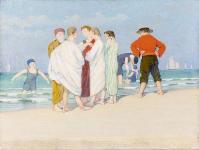 Les danseurs des ballets Russes sur la plage...