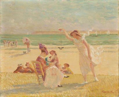 Jeux d'enfants sur la plage à Saint Efflam...