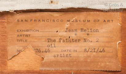 Jean HELION (1904-1987) Le peintre dessinant demi-nu, 1945  Huile sur toile.  Signée...