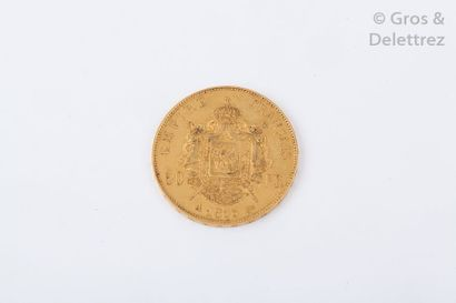 Une pièce de 50 Francs. (1855 Napoléon III)....