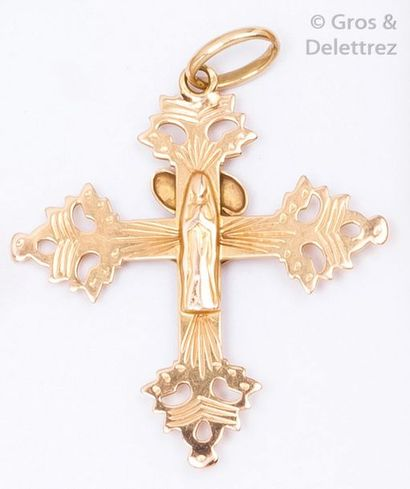 Pendentif «?croix de Savoie?» en or jaune...