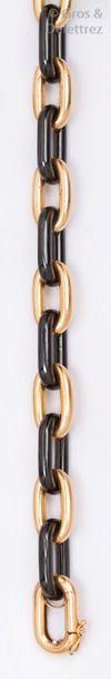 Bracelet gourmette à maillons en or jaune...