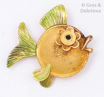 Broche «?Poisson?» en or jaune émaillé. P.6...