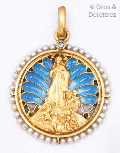 Médaille à l'effigie de la Sainte Vierge...
