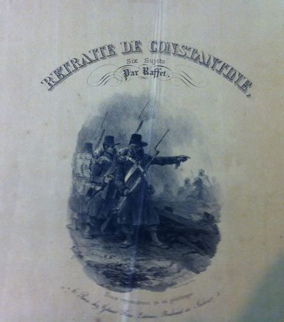Denis-Auguste RAFFET. Retraite de Constantine....